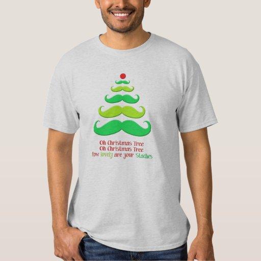 Camiseta caprichosa del día de fiesta del árbol de camisas