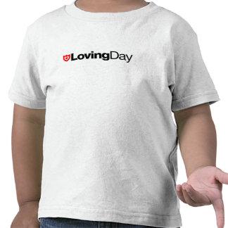 Camiseta cariñosa del niño del día