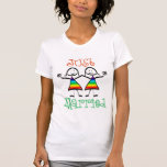 Camiseta casada de la lesbiana apenas