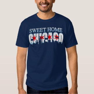 Camiseta casera dulce del horizonte de la bandera playeras