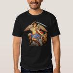Camiseta católica 2 del ángel del arcángel de San Poleras