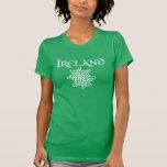 Camiseta céltica del nudo de Irlanda de las mujere