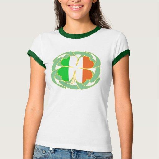 Camiseta céltica del nudo de la bandera irlandesa