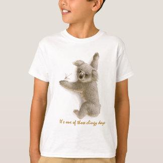 Camiseta ceñida linda del niño de la koala remera
