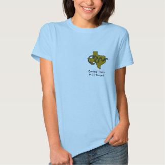 Camiseta central de Tejas 9-12 (mujer) Playeras