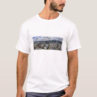 Camiseta céntrica de la opinión aérea de Portland