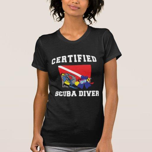 Camiseta certificada de la oscuridad del buceador poleras