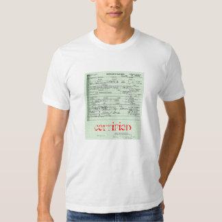 """Camiseta """"certificada"""" de la partida de nacimiento remera"""