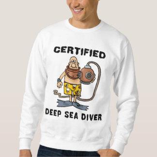 Camiseta certificada del buceador del mar profundo sudadera