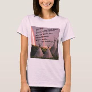 Camiseta cherokee ligera del rezo de la bendición