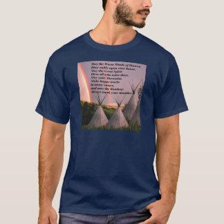 Camiseta cherokee oscura unisex del rezo de la
