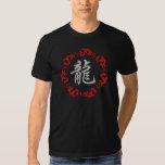 Camiseta china de la oscuridad del dragón del playera