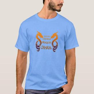 Camiseta china de oro del encanto del dragón