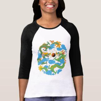 Camiseta china de Yin Yang del dragón Playera