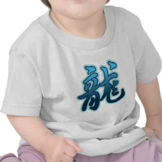 Camiseta china del bebé del dragón de agua de la m