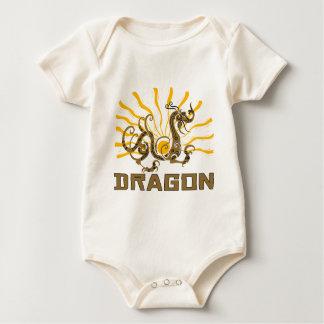 Camiseta china del dragón del zodiaco del dragón mamelucos