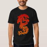 Camiseta china del fuego del dragón playera