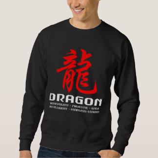 Camiseta china del negro del dragón de la jersey