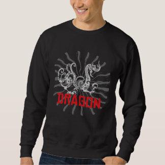 Camiseta china del negro del dragón del zodiaco sudaderas encapuchadas