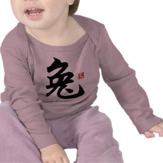 Camiseta china del símbolo del conejo