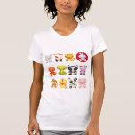 Camiseta china linda de los animales del dibujo