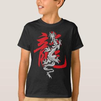 Camiseta china oriental asiática del dragón del playera