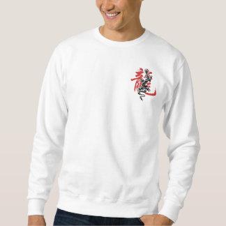 Camiseta china oriental asiática del dragón del suéter