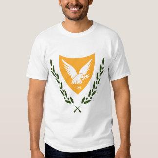 Camiseta chipriota del escudo de armas poleras