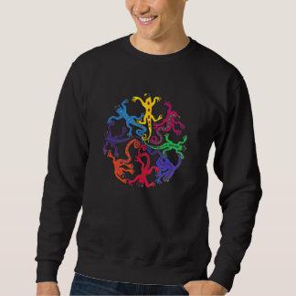Camiseta-Círculo largo del algodón de la manga de Suéter