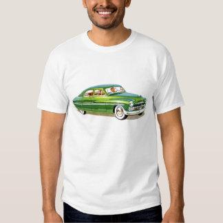 Camiseta clásica 1950 del coche de Mercury Poleras