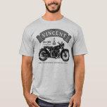 Camiseta clásica de la motocicleta de la sombra