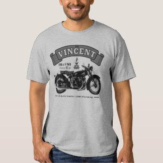 Camiseta clásica de la motocicleta de la sombra playera