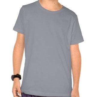 Camiseta clásica de los niños del vintage grises