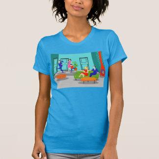 Camiseta clásica retra de la televisión poleras