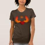 Camiseta coa alas del corazón