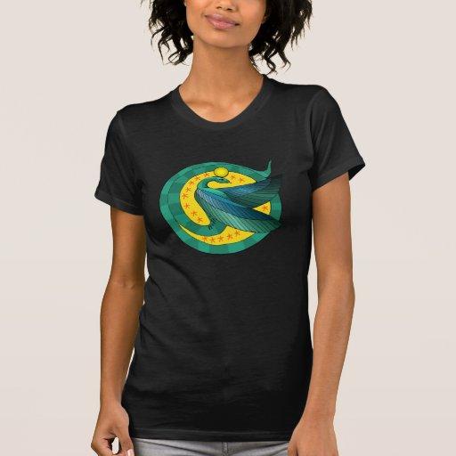 Camiseta coa alas egipcio de la serpiente playeras