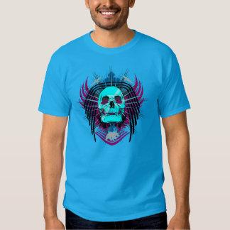 Camiseta coa alas tóxico del gráfico del cráneo poleras