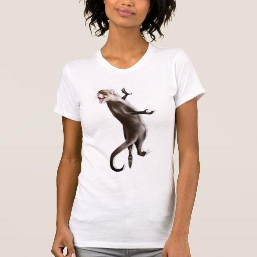 Camiseta colgante del hurón playeras