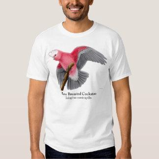 Camiseta color de rosa del Cockatoo de Breasted Poleras