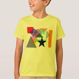 Camiseta coloreada de las formas