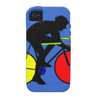 Camiseta coloreada multi de la bici de la biciclet vibe iPhone 4 funda