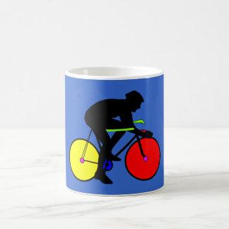 Camiseta coloreada multi de la bici de la biciclet taza