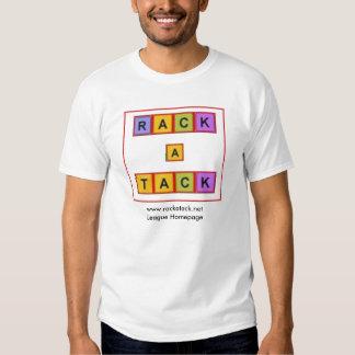 camiseta colorida de la Estante-uno-tachuela Playera