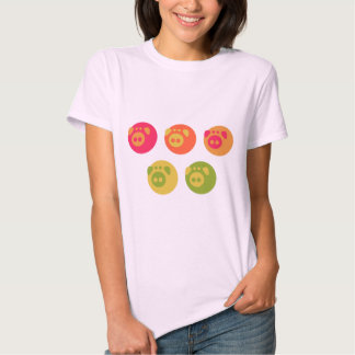 Camiseta colorida de Piggies Playeras