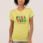 Camiseta colorida de Pura Vida Costa Rica de las Camisas
