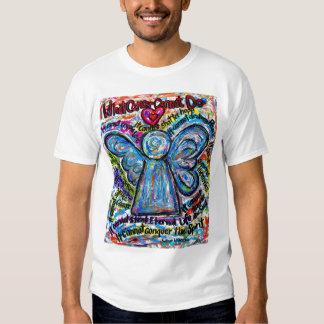 Camiseta colorida del ángel del cáncer (frente y camisas