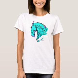 Camiseta colorida del caballo del Dressage
