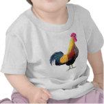 Camiseta colorida del gallo