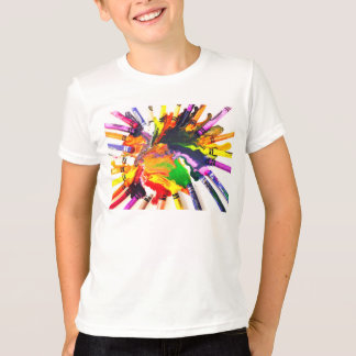 Camiseta colorida del mundo polera