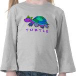 Camiseta colorida del niño de la tortuga adorable